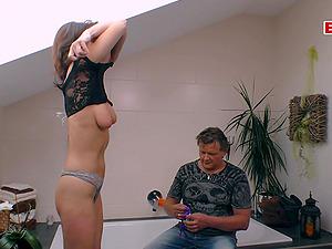 German old mature mom seduced husband