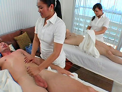 foursome at the massage place
