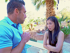 Handsome Asian pornstar Jade Kush opens her legs to be fucked