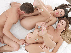 Erotic FFM threesome in the morning with Tequila Girl & Verona Sky