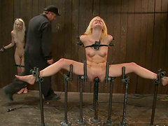 Wild Domination for Blondes in Crazy Femdom Bondage Clip