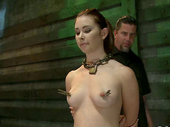 Melody Jordan gets blindfolded, tied up and fucked hard