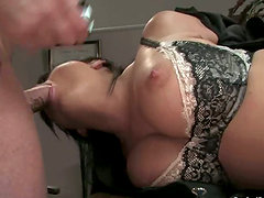 Moments of hell for a gorgeous brunette Eva Angelina