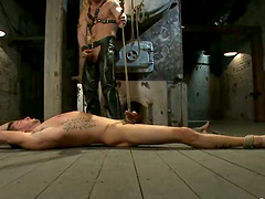 Casey More enjoys getting his ass fucked while being bound