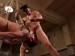 Extreme Bondage Gay BDSM Clip with Ass Fucking and BJ Fun