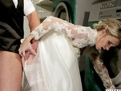 Wedding sex story with Angel Piaff in the laundry